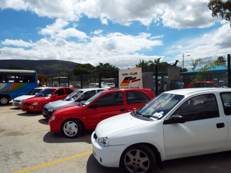 Club Display at a Car Show - 1 Mar 2014 - Some of our Corsa B's
