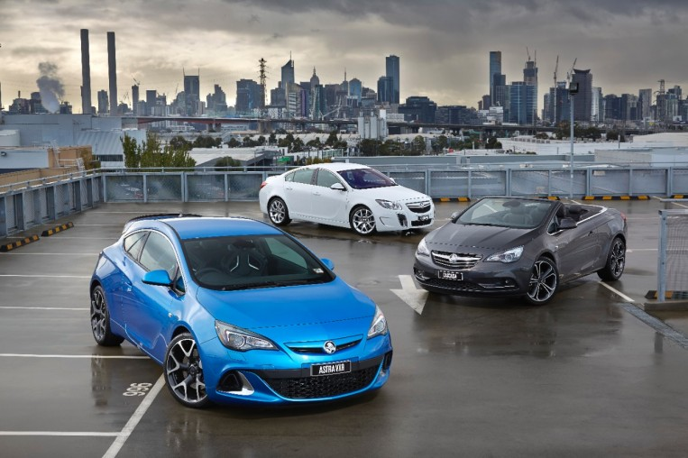 Maximum driving pleasure for Australia and New Zealand: the Holden Astra VXR, Insignia, and Cascada.