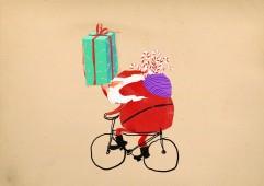 Mikołaj-cyklista :)