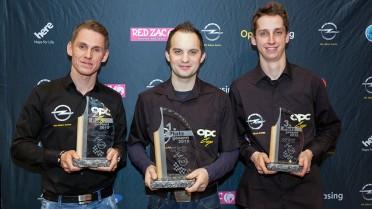 Die Sieger der Pilotenwertung des OPC-Cups 2015 (v.l.n.r.): Heimo Hinterhofer (2.), Christoph Leitgeb (1.), Andreas Kainer (3.)