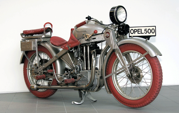 Die Motoclub 500, mit der Opel 1928 ein weiteres Ausrufezeichen auf dem Zweiradmarkt setzte.