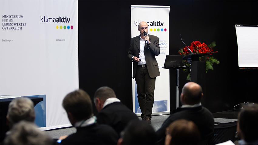 Energiemanager Roman Szegner referierte bei der klima:aktiv-Fachtagung und Auszeichnungsveranstaltung