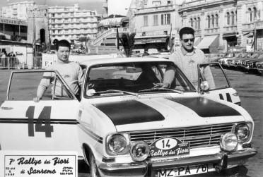 70907_ Rallye dei Fiori, Italien, 1967 siegen Hans Beck & Herbert Heuser, beide Mitarbeiter der Opel-Versuchsabteilung auf Opel Kadett B Coupe in ihrer Klasse vor Dieter Lambart & Vogt
