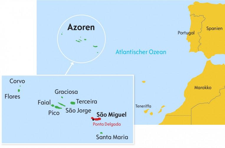 Azoren_Karte