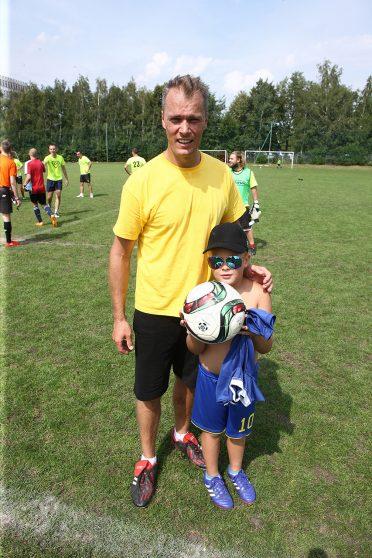 Damian Jasicki z Body razem z 7-letnim synem Kamilem, który ochoczo wspierał tate.