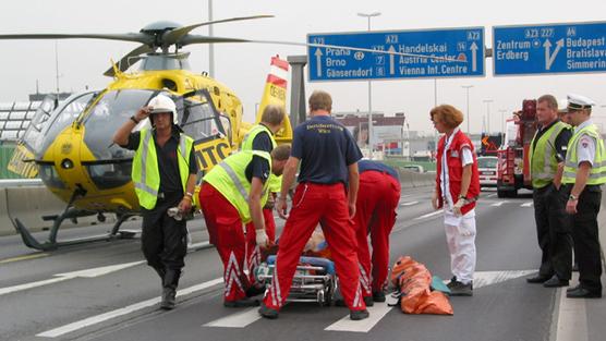 Bei den Einsatzarten liegen internistische Notfälle mit über einem Drittel an der Spitze; gefolgt von Verkehrsunfällen sowie Sport- und Freizeit-Unfällen