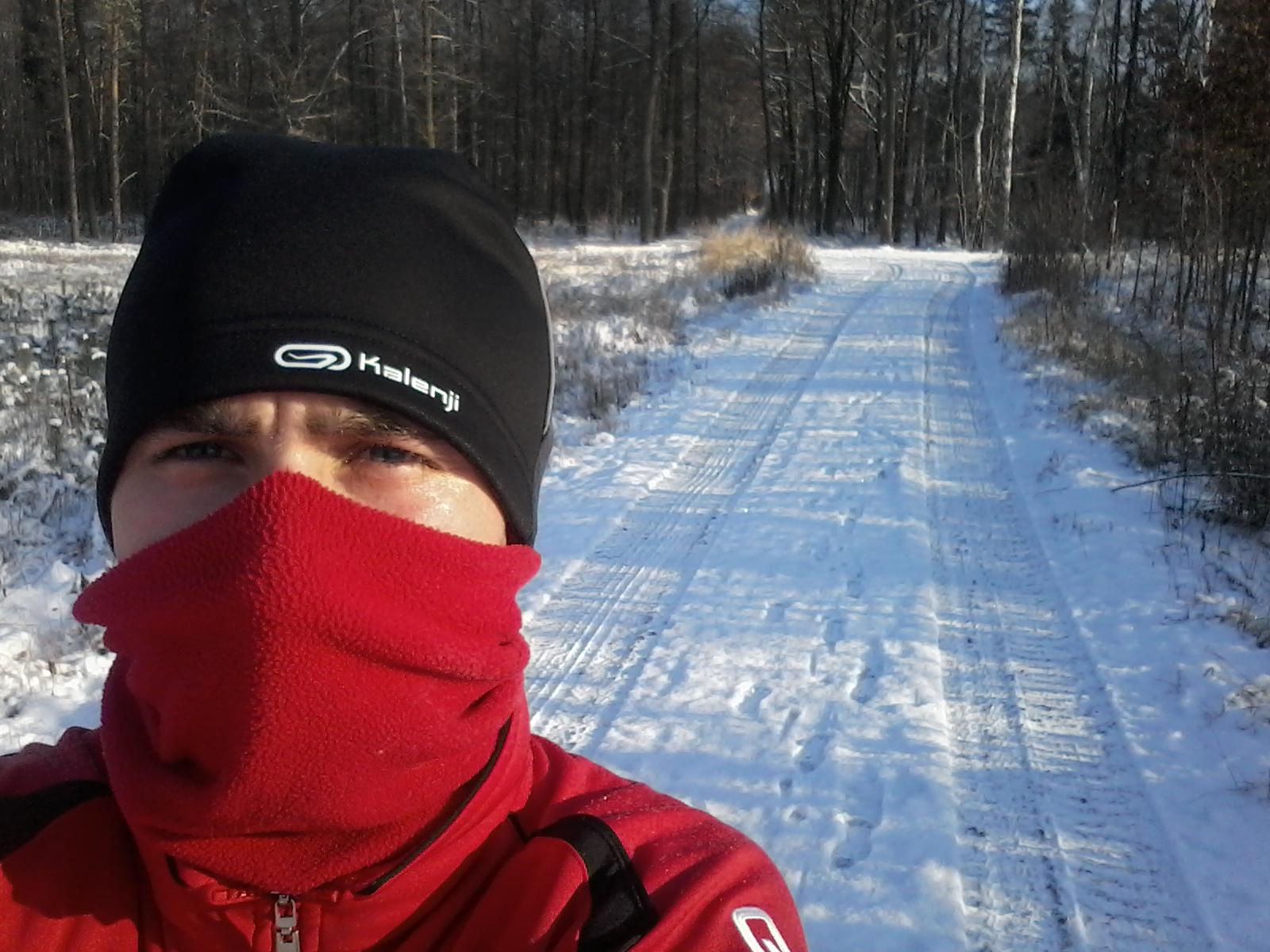 """Rafałowi żadna pogoda do biegania nie jest straszna. Jak mówi """"nie ma złej pogody, jest tylko źle ubrany biegacz"""""""