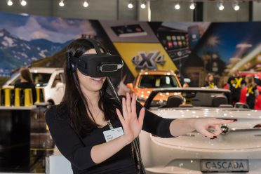 Spaß für die Besucher – mit den Virtual Reality-Brillen.