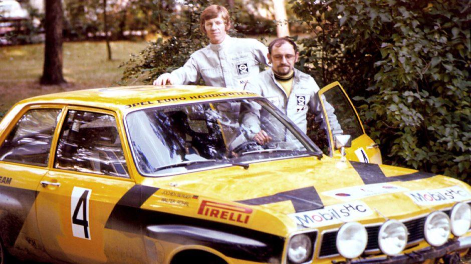49306_ Walter Röhrl und Jochen Berger auf Opel Ascona A 1974 Noch nie war es gelungen, die Rallye-EM mit der maximal möglichen Punktzahl zu gewinnen