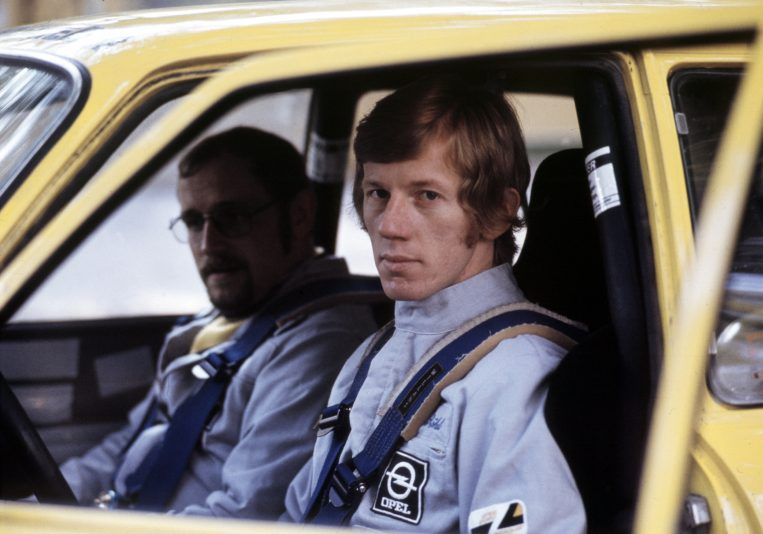 70945_Rallye Saison 1974Rallye-Europameister 1974 Jochen Berger (links) und Walter Röhrl (rechts)
