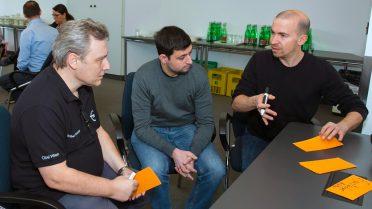 Gruppenarbeit (v.l.n.r.): Robert Wachter, Christian Zechmeister, Michael Berger.