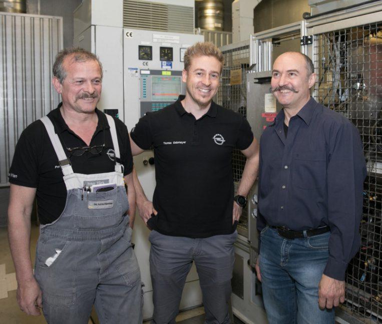 Motorprüfstands-Spezialisten (v.l.n.r.): Peter Türk, Thomas Gabmayer, Fritz Zohar